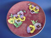 Superb Royal Doulton 'Pansy - Mottled Ground' Wall Plaque D6402 c1953